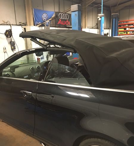 Audi A3 Cabriolet Soft Top Repairs 4