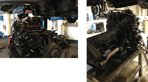 Removal of engine and gearboxes for Volkswagen & Audi